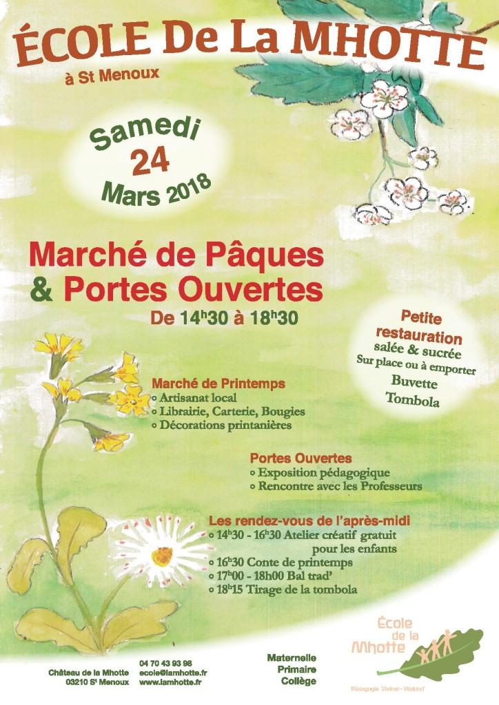 Portes Ouvertes & Marché de Printemps @ Ecole de la Mhotte | Saint-Menoux | Auvergne-Rhône-Alpes | France