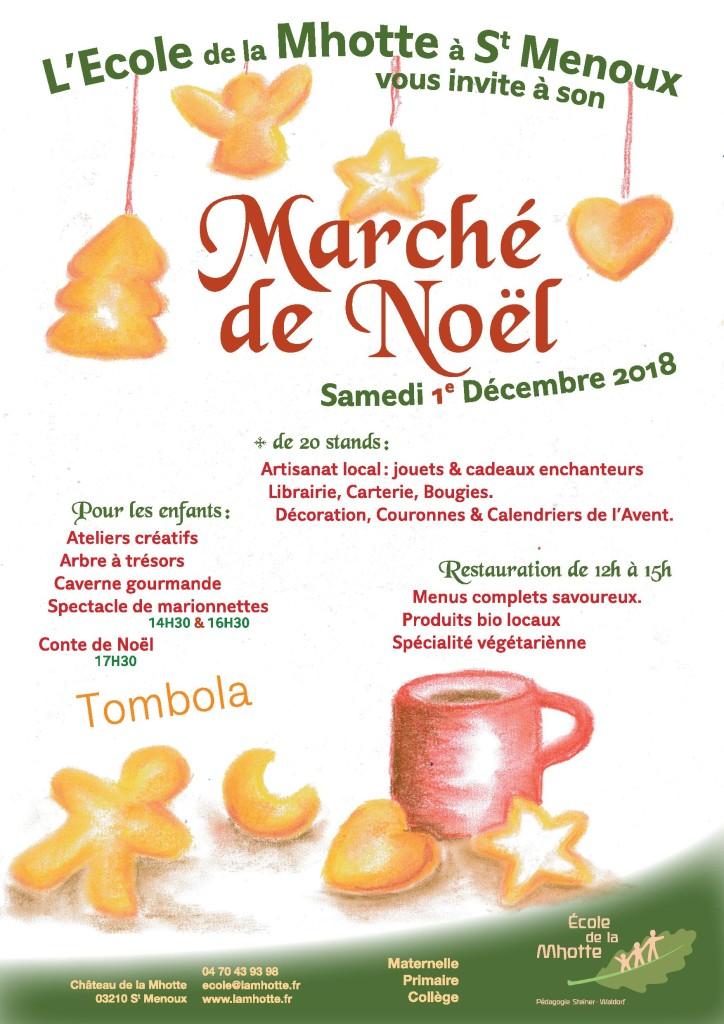 Marché de Noël @ Ecole de la Mhotte | Saint-Menoux | Auvergne-Rhône-Alpes | France